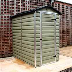 Installed 6 x 4 Plastic Apex Garden Shed (1.86m x 1.25m) *includes Installation
