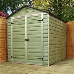 INSTALLED 12 x 6 Plastic Apex Shed (3.65m x 1.88m) *INCLUDES INSTALLATION*