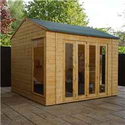 10 x 8 Vermont Reverse Tongue and Groove Summerhouse (12mm Tongue and Groove Floor) (Show Site)