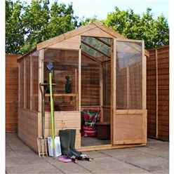 Installed 8 X 6 Shiplap Tongue And Groove Wooden Greenhouse Includes Installation