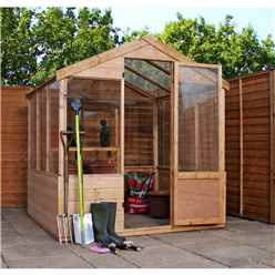 Installed 4 x 6 Shiplap Tongue And Groove Wooden Greenhouse Includes Installation