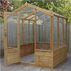 INSTALLED 6 x 6 Premier Styrene Glazed Tongue and Groove Greenhouse (No Floor) INCLUDES INSTALLATION