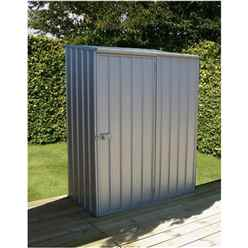 Installed 5 X 3 Premier Zinc Metal Garden Shed (1.52m X 0.78m) Includes Installation