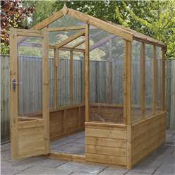 6 x 6 Deluxe Glazed Tongue and Groove Greenhouse (No Floor)