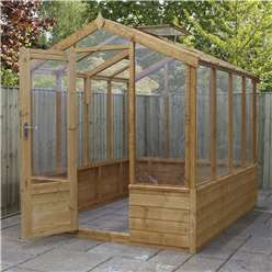 INSTALLED 6 x 8 Deluxe Glazed Tongue and Groove Greenhouse (No Floor) INCLUDES INSTALLATION