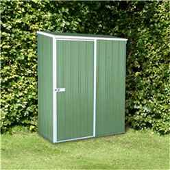 **PRE-ORDER: DUE BACK IN STOCK: 22ND DECEMBER** Installed 5 x 3 Premier Pale Eucalyptus Metal Garden Shed (1.52m x 0.78m) *Includes Installation*