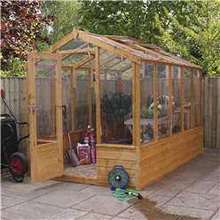 INSTALLED 6 x 10 Deluxe Glazed Tongue and Groove Greenhouse (No Floor) INCLUDES INSTALLATION