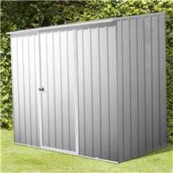 INSTALLED 8 x 5 Premier Zinc Metal Garden Shed (2.26m x 1.52m) INCLUDES INSTALLATION