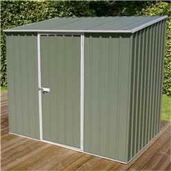 Installed 8 x 5 Premier Pale Eucalyptus Metal Garden Shed (2.26m x 1.52m) Includes Installation