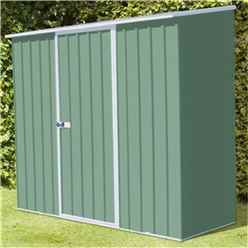 Installed 8 X 3 Premier Pale Eucalyptus Metal Garden Shed (2.26m X 0.78m) Includes Installation