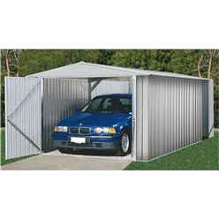 INSTALLED 10 x 20 Utility Zinc Metal Garden Shed (3m x 6.02m) INCLUDES INSTALLATION