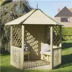 8 1 x 9 3 Open Diagonal Pressure Treated Trellis Gazebo (2.5m x 2.8m)