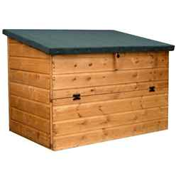 INSTALLED 4 x 2' 6 Tongue and Groove Wooden Pent Store Chest - INCLUDES INSTALLATION