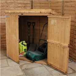 Installed 5 x 3 Wooden Tongue And Groove Pent Mower Shed With Double Doors Includes Installation