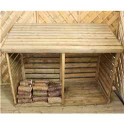 "INSTALLED 3 x 6 Pressure Treated Double Log Store (2'8"" x 6'4"") INCLUDES INSTALLATION"