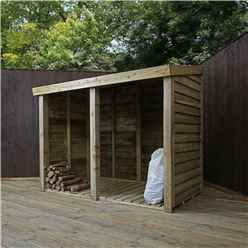 3 X 6 Pressure Treated Overlap Double Storage Unit (3 3 X 6 2)