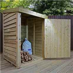 INSTALLED 3 x 3 Pressure Treated Overlap Storage Unit With Single Door (3'3 x 3'3) INCLUDES INSTALLATION