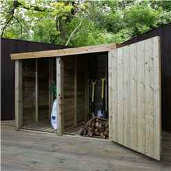 3 X 6 Pressure Treated Overlap Double Storage Unit With Single Door (33 X 62)