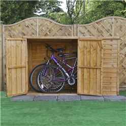 Installed 3 x 6 Overlap Pent Bike Store (3 3 x 6 5) Includes Installation
