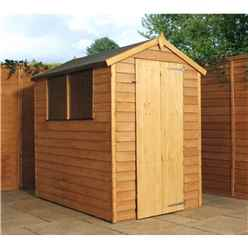 6 x 4 Value Overlap Apex Wooden Shed With 2 Windows And Single Door (10mm Solid OSB Floor) - 48hr + Sat Delivery* (show Site)