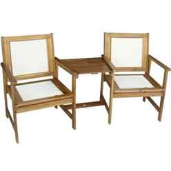 2 Seater - Henley Padded Textylene Companion Set  Golden Sand Textylene - Free Next Working Day Delivery (Mon-Fri)