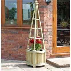 Deluxe Marberry Obelisk Planter