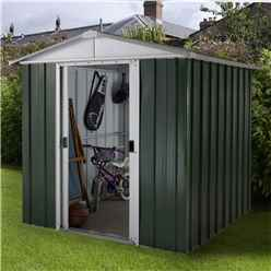 "6ft 1"" x 6ft 10"" Apex Metal Shed With Free Anchor Kit (1.86m x 2.07m)"