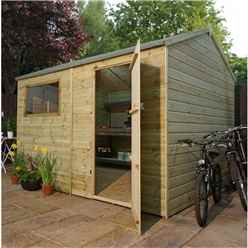 INSTALLED 10 x 8 Pressure Treated Tongue and Groove Reverse Apex Shed - INCLUDES INSTALLATION