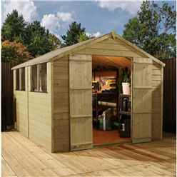 12 X 8 Pressure Treated Tongue And Groove Apex Shed