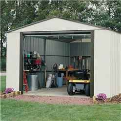 INSTALLED - 12 x 10 Deluxe Murryhill Metal Garage (3.71m x 2.97m) INSTALLATION INCLUDED