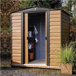 6 x 5 Deluxe Woodvale Metal Shed (1.94m x 1.51m) - Including Floor