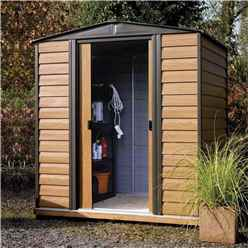 6 x 5 Deluxe Woodvale Metal Shed (1.94m x 1.51m) - Assembled With Floor