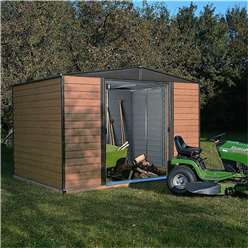8 X 6 Deluxe Woodvale Metal Shed (2.53m X 1.81m) - Including Floor
