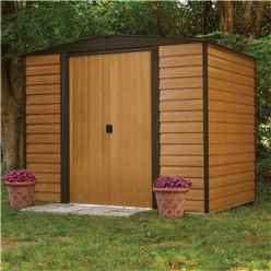 8 x 6 Deluxe Woodvale Metal Shed (2.53m x 1.81m) - Assembled With Floor