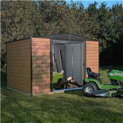 10 x 8 Deluxe Woodvale Metal Shed (3.13m x 2.42m) - Including Floor