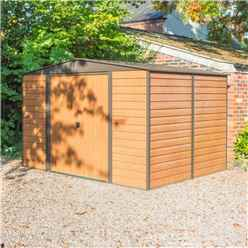 10 x 12 Deluxe Woodvale Metal Shed (3.13m x 3.70m) - Assembled with Floor