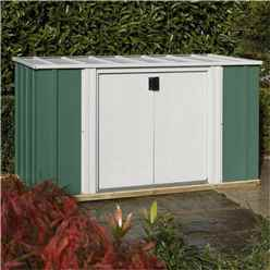 6 x 3 Deluxe Green Storette (1.7m x 0.92m) - Including Floor
