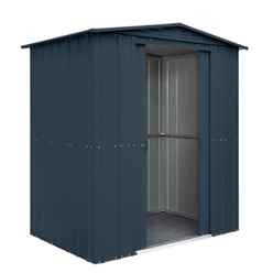 OOS - BACK JUNE 2021 - 6 x 4 Premier EasyFix – Apex – Metal Shed - Anthracite Grey (1.84m x 1.23m)