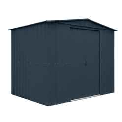 **PRE-ORDER ONLY - BACK IN STOCK EARLY JULY** 8 X 5 Apex Anthracite Grey Metal Shed (2.34m X 1.44m)