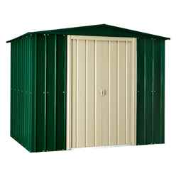 8 x 10 Apex Heritage Green Metal Shed (2.34m x 2.99m)