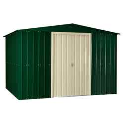 10 X 10 Apex Heritage Green Metal Shed (2.95m X 2.99m)