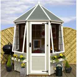 6 x 6 Premier Wooden Octagonal Garden Summerhouse (12mm Tongue and Groove Floor) - 48HR + SAT Delivery*