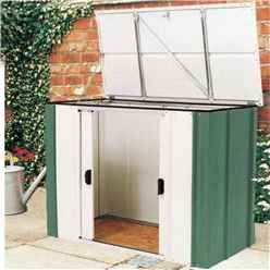 4 x 2 Deluxe Green Metal Storette (1.39m x 0.77m) Includes Floor