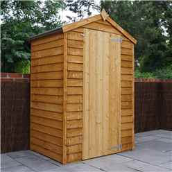 INSTALLED 3 x 4 Value Wooden Windowless Overlap Apex Shed With Single Door (10mm Solid OSB Floor) - INCLUDES INSTALLATION