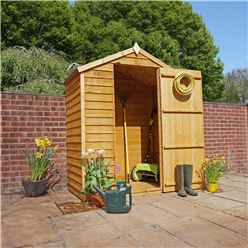 Installed 3 x 5 Value Wooden Windowless Overlap Apex Shed With Single Door (10mm Solid Osb Floor) - Includes Installation