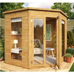 7ft x 7ft Corner Tongue and Groove Summerhouse