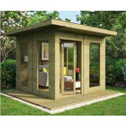 10 x 10 Pressure Treated Lounge Contemporary Summerhouse