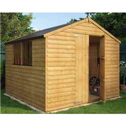 8 x 8 Loglap Shed with 2 Windows and Double Doors