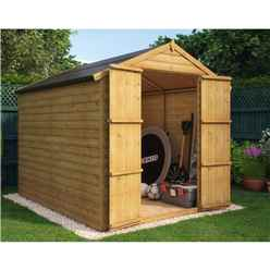 8 x 6 Loglap Windowless Shed with Double Doors