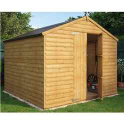 8 x 8 Loglap Windowless Shed with Double Doors